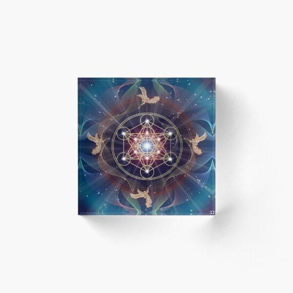 Metatron's Cube - Merkabah - Peace and Balance Acrylic Block