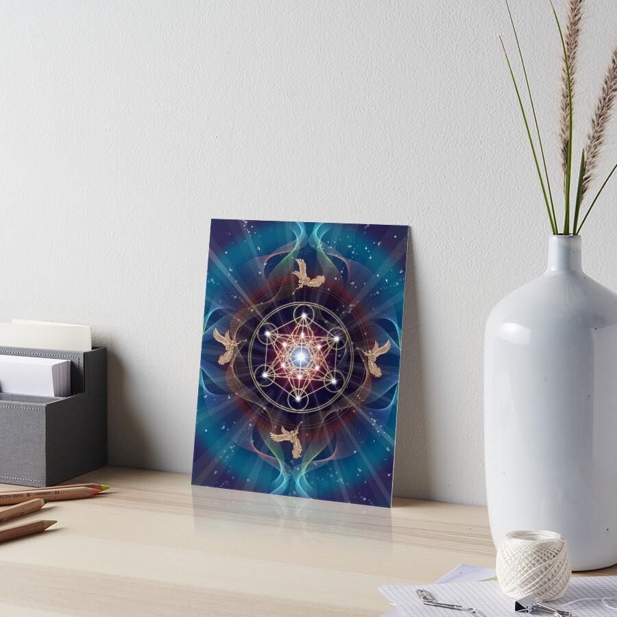 Metatron's Cube - Merkabah - Peace and Balance Art Board Print