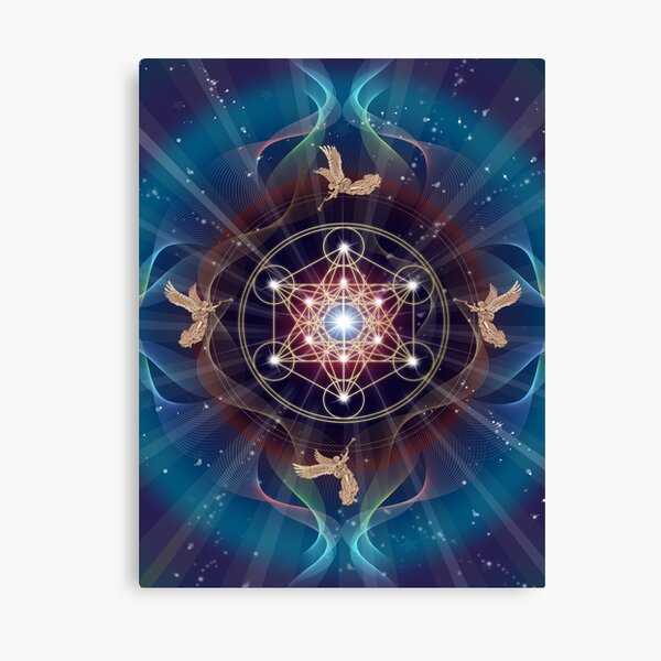 Metatron's Cube - Merkabah - Peace and Balance Canvas Print