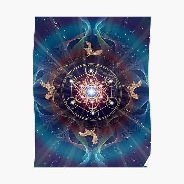 Metatron's Cube - Merkabah - Peace and Balance Poster