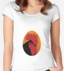 Portrait of a chook 2001 Women's Fitted Scoop T-Shirt