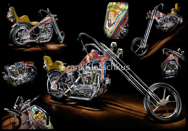 "Evel Knievel Harley Davidson Chopper Photograph By Frank: ""Evel Knievel Harley XLCH Chopper"" Posters By Frank"