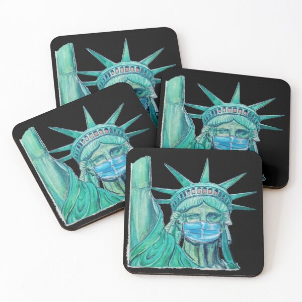 America the brave Coasters (Set of 4)