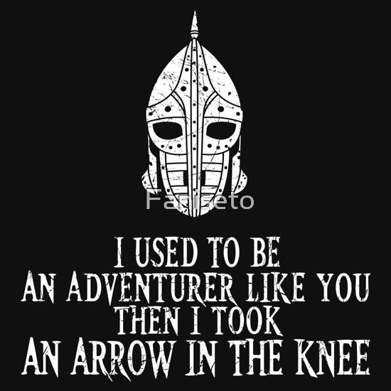 TShirtGifter presents: I Took an Arrow in the Knee