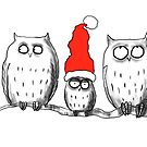 Small Christmas owl group by LordOtter