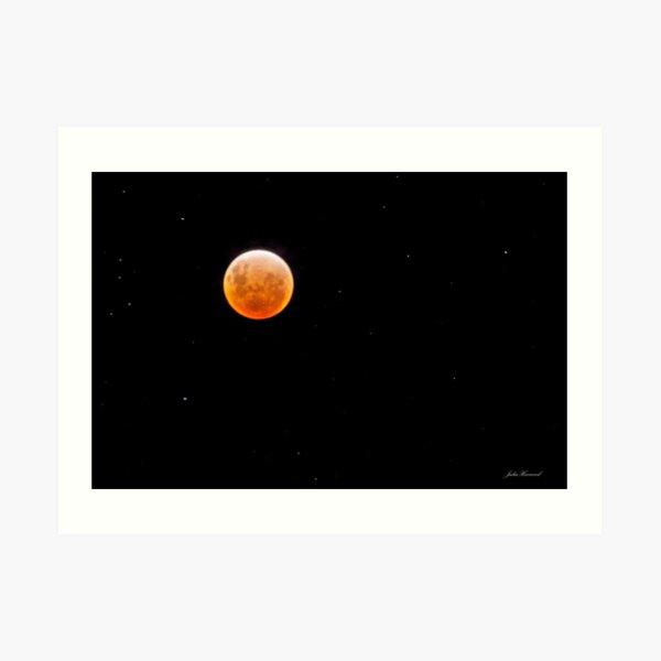 Earth, Moon & Sun Align, 10th Dec 2011 Art Print