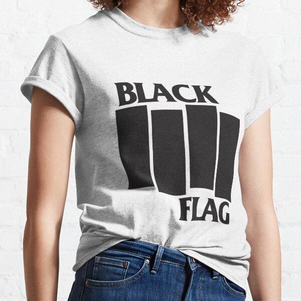 Logo de banda de bandera negra Camiseta clásica