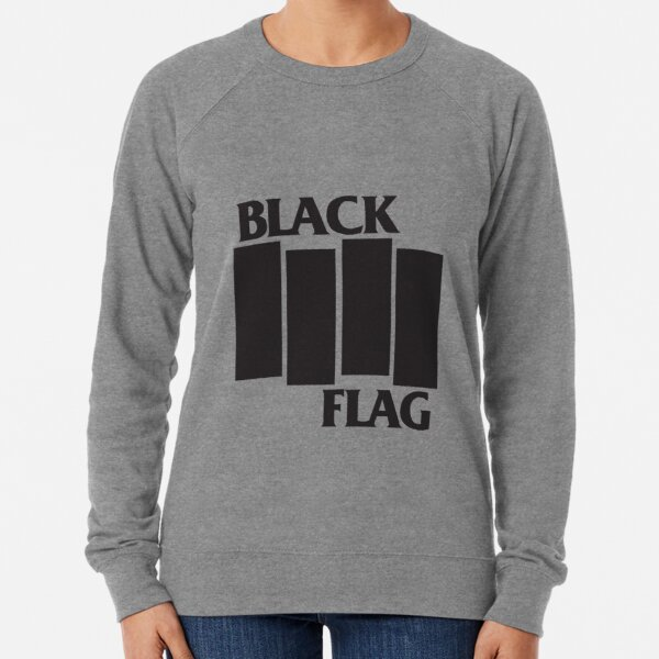 Black Flag Band Logo Lightweight Sweatshirt