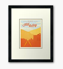 Back to the Future - Welcome To Hill Valley  Framed Print