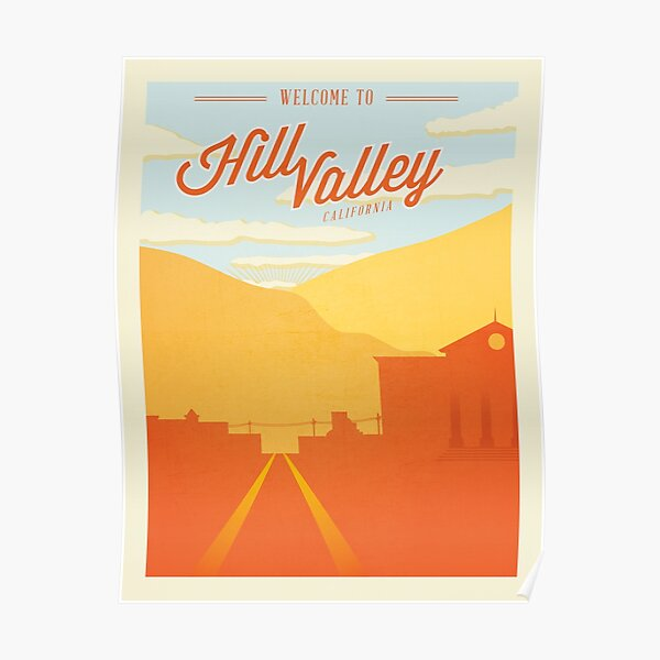 Californie. Accueil de Marty McFly Poster