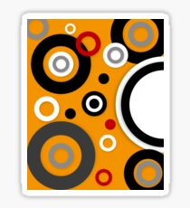 Florescent Orange Abstract Vector  Sticker