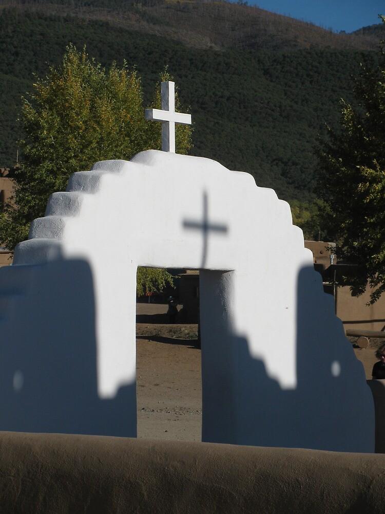 taos pueblo church shadow by lehnejm1
