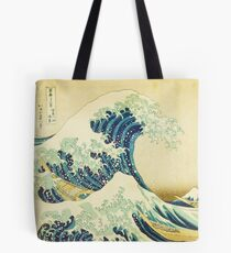 Detail from The Great Wave off Kanagawa Tote Bag
