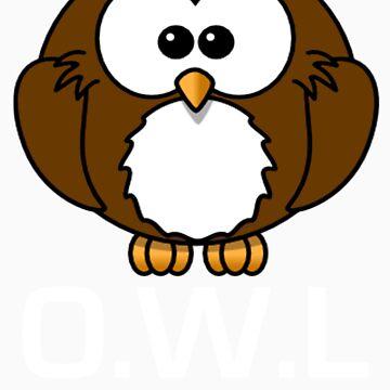 Owl T-Shirt by AfroSmurfs
