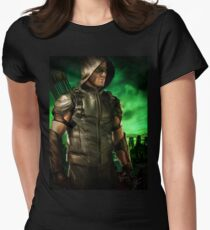 The Vigilante of Starling City- Oliver Queen Womens Fitted T-Shirt