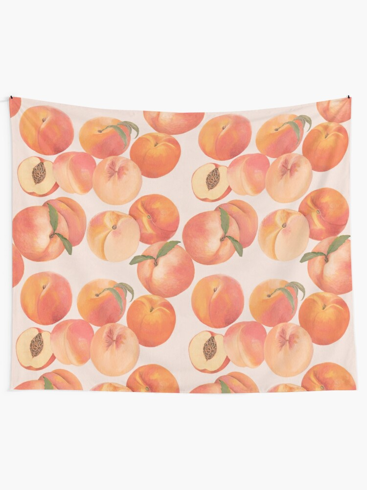 Alternate view of Peaches Tapestry