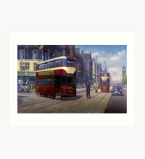 Edinburgh tram. Art Print