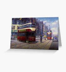 Edinburgh tram. Greeting Card
