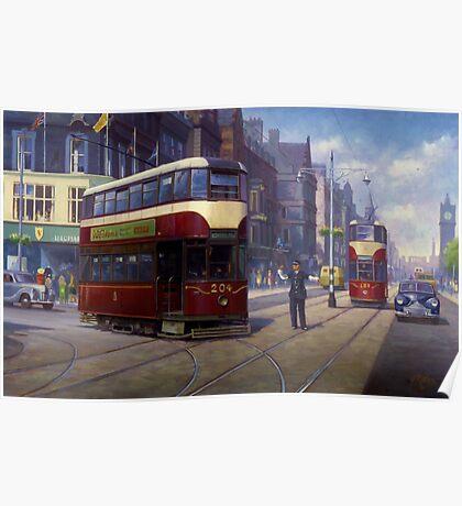Edinburgh tram. Poster