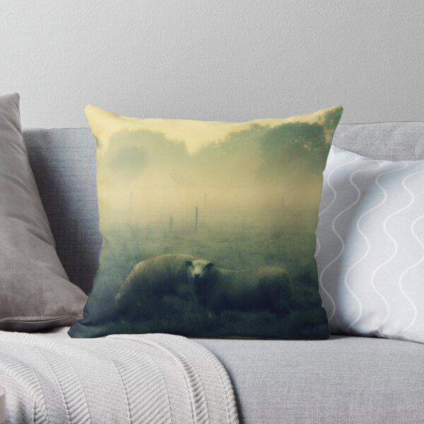 Dreaming of Sheep - JUSTART © Throw Pillow