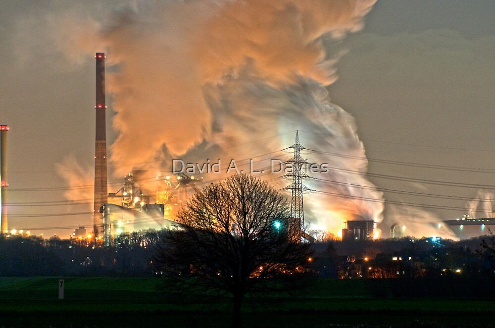 The other side of the Rhine 2, Duisburg. by David A. L. Davies