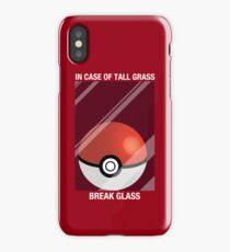 In Case of Tall Grass, Break Glass iPhone Case/Skin