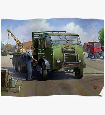 Post Office Engineering Foden. Poster