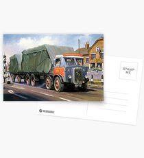 Atkinson eight-wheeler and drag. Postcards