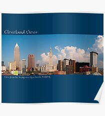 View of Cleveland from the Bridgeview Apartments Building Poster