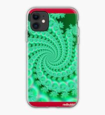 Seagreen Fractal iPhone Case