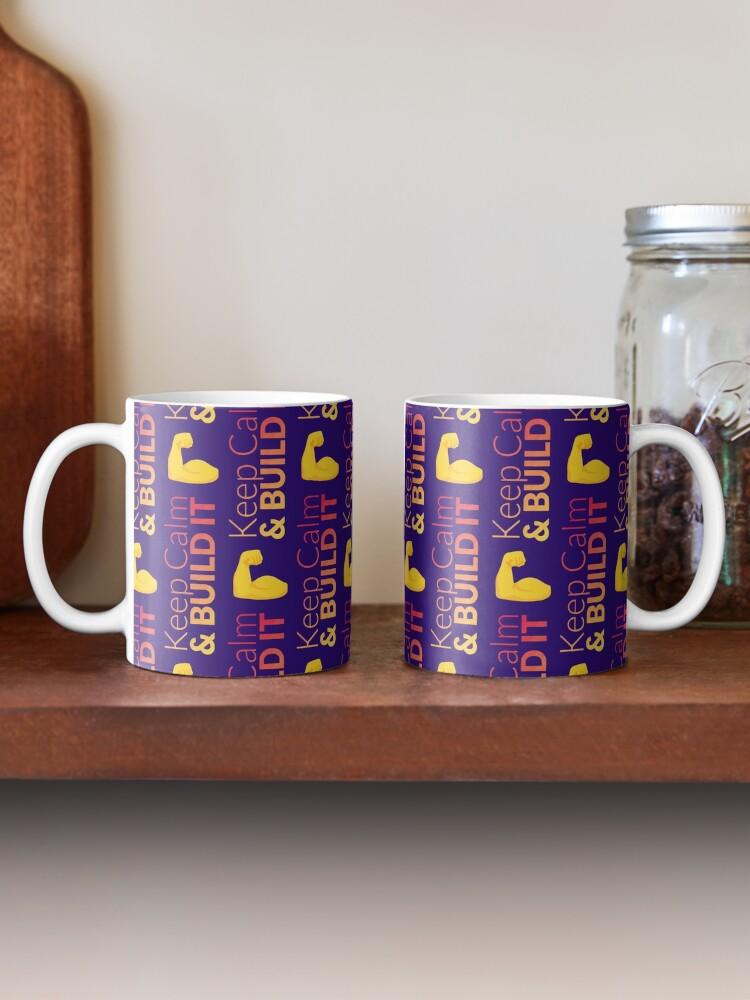 Mug ''❝KeepCalm & Build It❞': autre vue