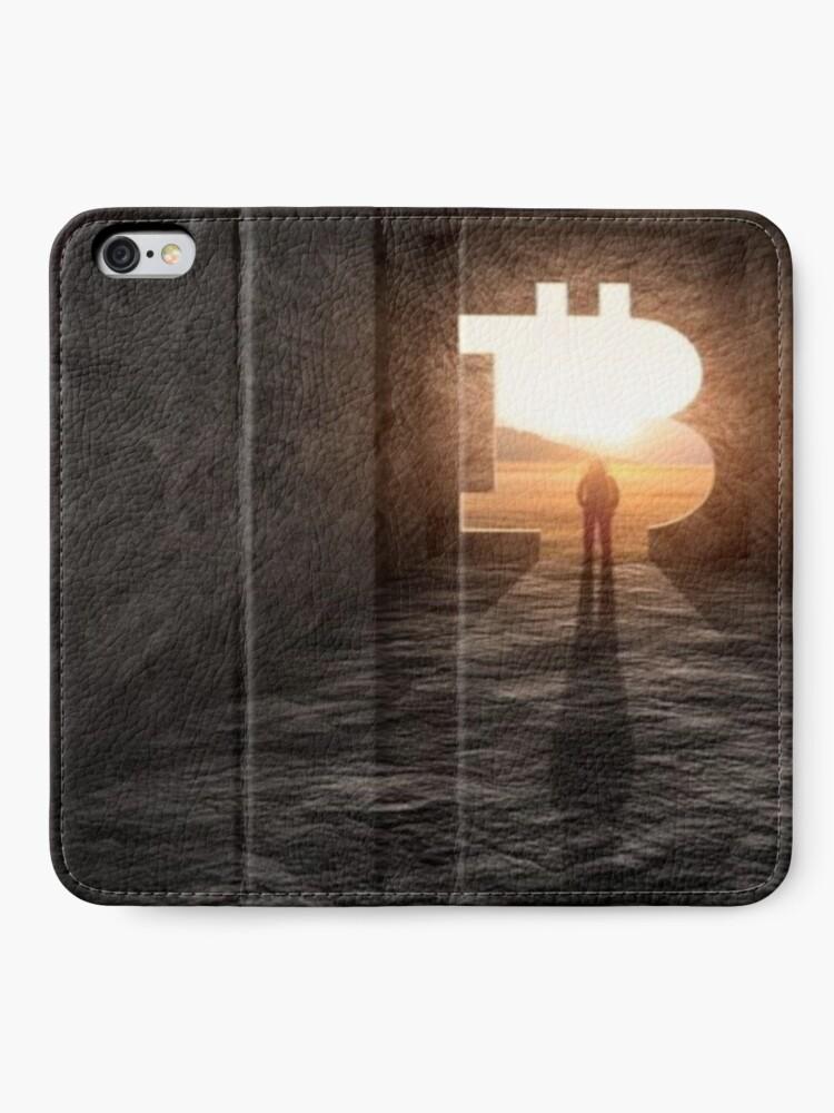Vista alternativa de Fundas tarjetero para iPhone Nuevo horizonte bitcoin