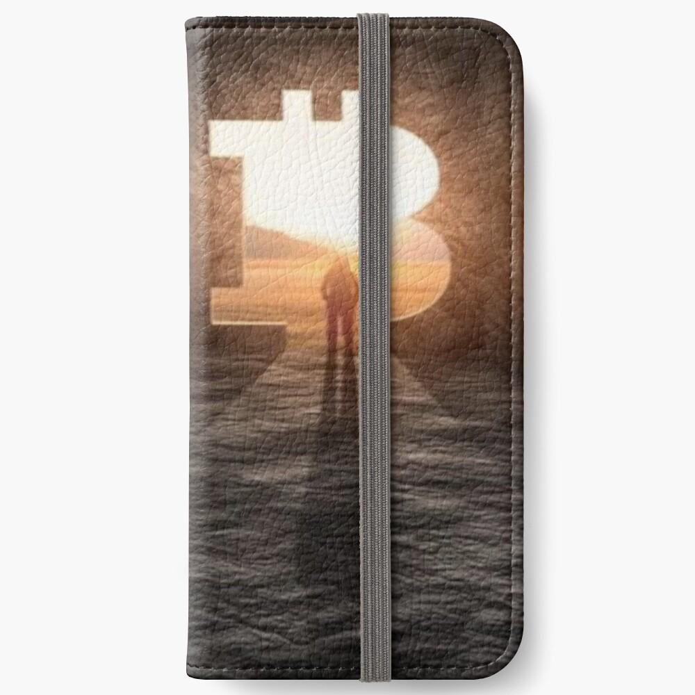 Nuevo horizonte bitcoin Fundas tarjetero para iPhone