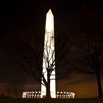 Washington Monument Night by CraMation