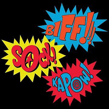 Biff!!! Sock! Kapow! Popart by CloakAndDaggers