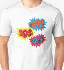 Biff!!! Sock! Kapow! Popart Unisex T-Shirt