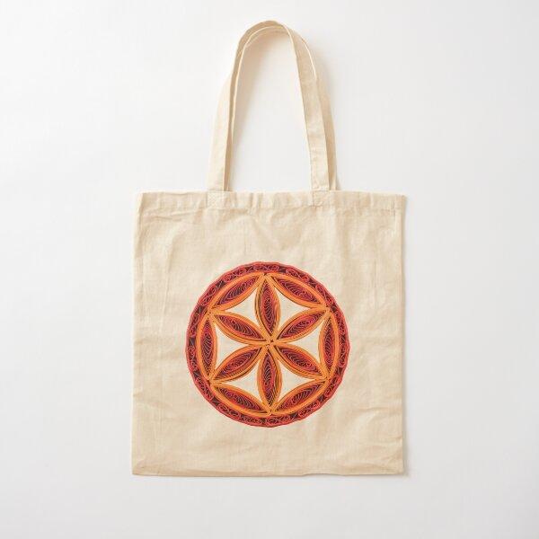 The Six-Petal Rosette - Solar Symbol Cotton Tote Bag