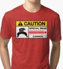 CAUTION - SPECIAL BEAM CANNON Tri-blend T-Shirt