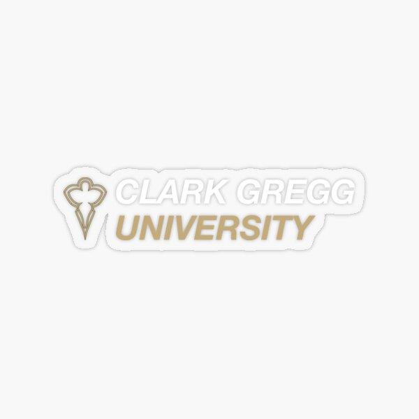 Clark Gregg Logo (2) Transparent Sticker