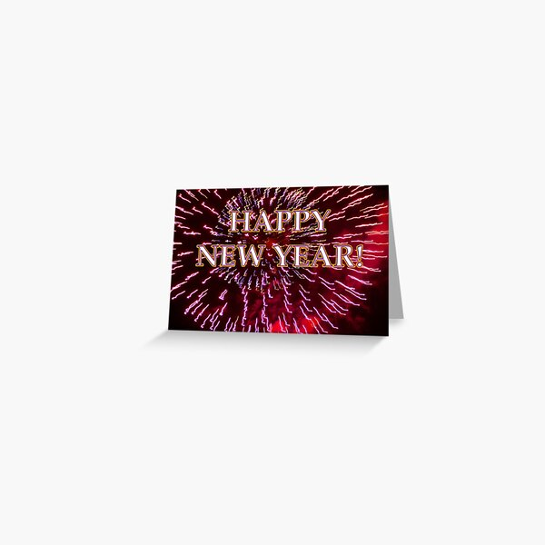 fireworks airburst happy new year Greeting Card
