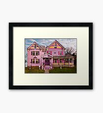 House - Victorian - I love bright colors Framed Print