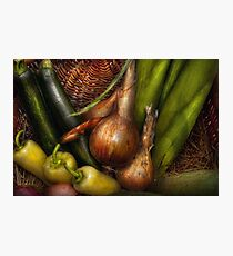 Food - Vegetables - Greens and Onions  Photographic Print