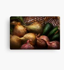 Food - Vegetables - Onions and Peppers Canvas Print