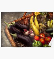Food - Vegetables - From mother's garden Poster