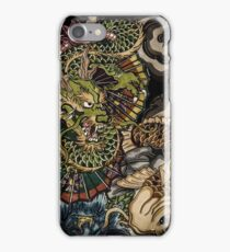 Japanese dragon and koi fish  iPhone Case/Skin