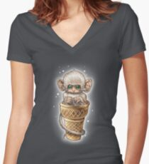 SOFT SERVE Women's Fitted V-Neck T-Shirt