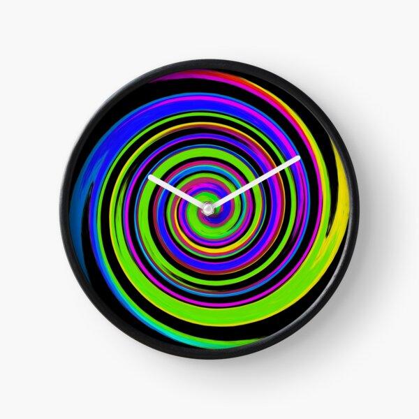 Rainbow twirl Clock