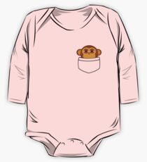 Pocket monkey is highly suspicious One Piece - Long Sleeve