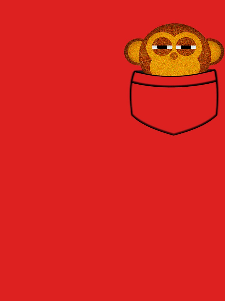 Pocket monkey is highly suspicious | Unisex T-Shirt