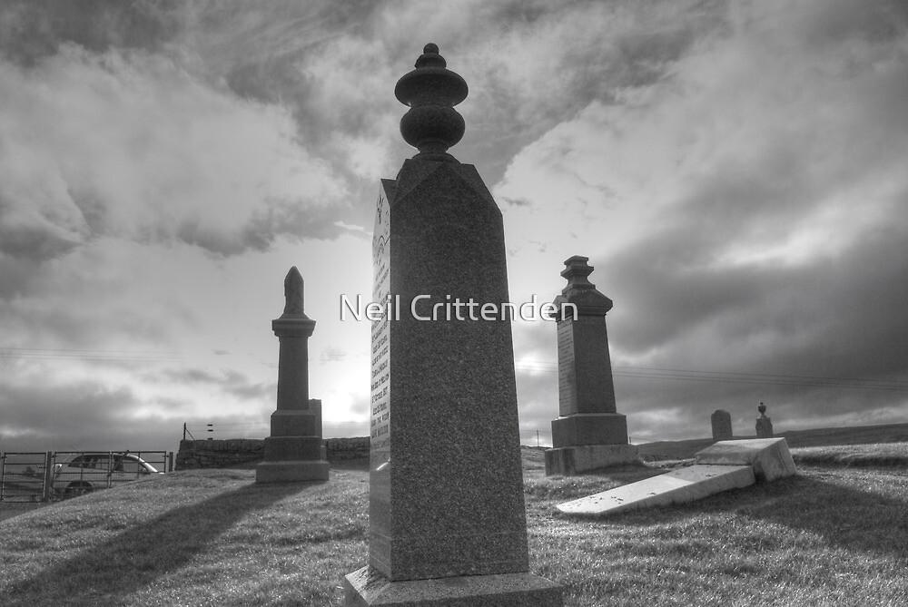 Graveyard by the beach by Neil Crittenden